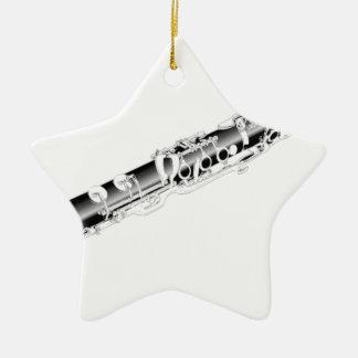 Clarinet Ceramic Ornament