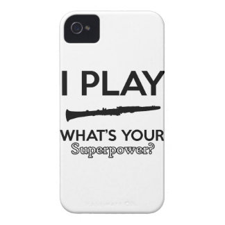 clarinet designs iPhone 4 Case-Mate case