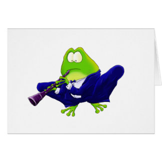 Clarinet Frog Card