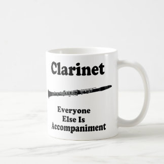 Clarinet Gift Classic White Coffee Mug
