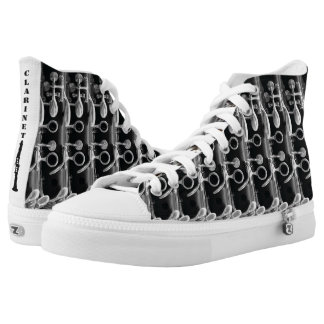 Clarinet High Top Shoes Printed Shoes