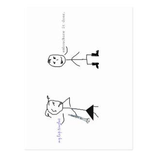 Clarinet Humor Postcard