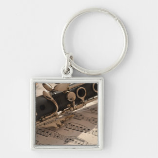 Clarinet musical instrument with notation key ring