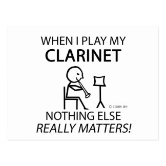 Clarinet Nothing Else Matters Postcard