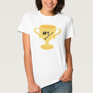 Clarinet Number One Trophy Tee Shirts