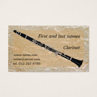 Clarinet on Marble Business Card