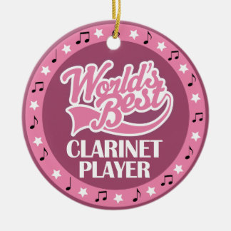 Clarinet Player Gift For Her Ceramic Ornament