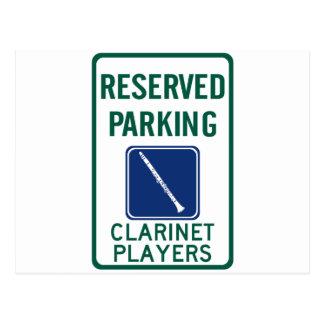 Clarinet Players Parking Postcard