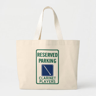 Clarinet Players Parking Jumbo Tote Bag