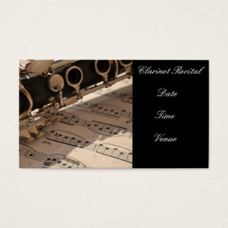 Clarinet Recital  mini Invitation