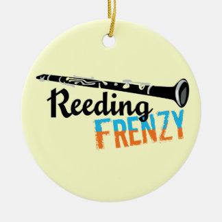 Clarinet Reeding Frenzy Ceramic Ornament