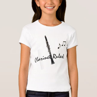 Clarinet Rules Music Notes Tee