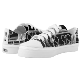 Clarinet Shoes with Laces Printed Shoes