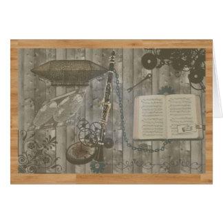 Clarinet Steampunk Escapade Card