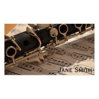 Clarinet Teacher freelance Music tutor Business Card Template