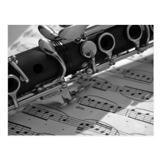 Clarinet with Sheet Music Postcard