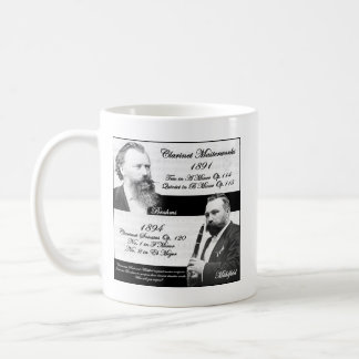 Clarinetist Mühlfeld inspired Brahms Coffee Mug