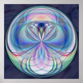 Clarity Mandala - Fractal Artwork Print