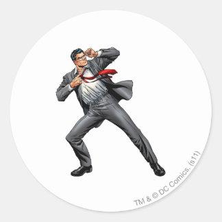 Clark changes into Superman Round Sticker