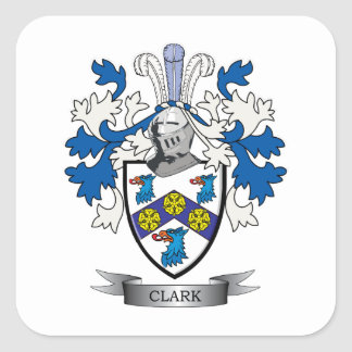 Clark Coat of Arms Square Sticker