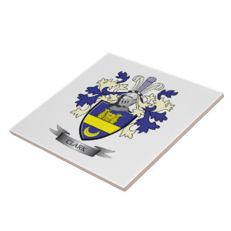 Clark Family Crest Coat of Arms Ceramic Tile