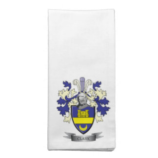 Clark Family Crest Coat of Arms Napkin