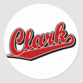 Clark in Red Round Sticker