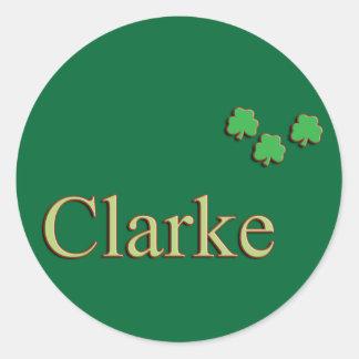 Clarke Family Round Sticker
