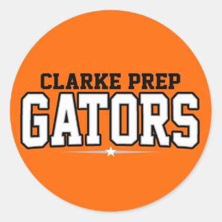Clarke Prep High School; Gators Round Sticker