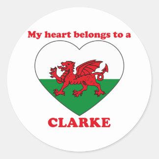 Clarke Stickers