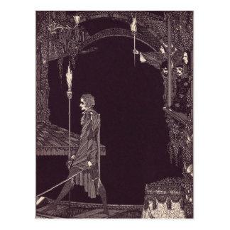 Clarke's Edgar Allan Poe Illustrations Postcard