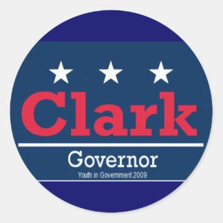 clarkforgov round sticker