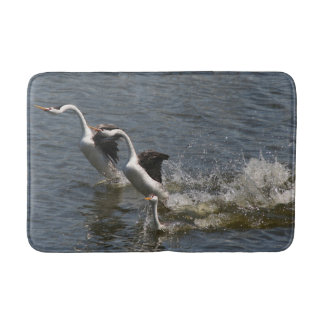 Clarks Grebe Bird Wildlife Animal Wetland Bath Mat Bath Mats