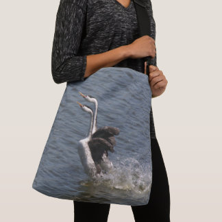 Clarks Grebe Birds Animals Wildlife Tote Bag