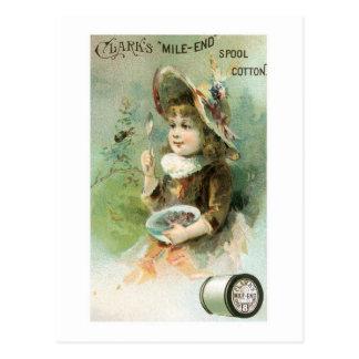 Clarks Mile End Spool Cotton (2) Postcard
