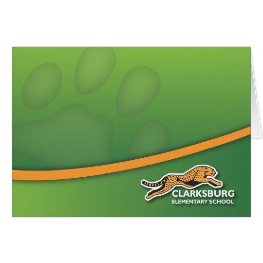 Clarksburg Cheetah Notecards Card