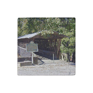 Clarkson–Legg Covered Bridge Primed Marble Magnet Stone Magnet