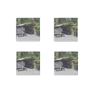 Clarkson–Legg Covered Bridge Primed Marble Magnets Stone Magnet