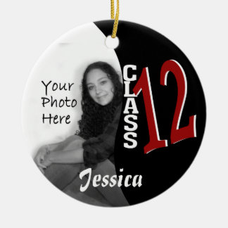 Class 2012 Graduation Photo Round Ceramic Decoration
