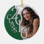 Class 2016 Graduate Photo Pine Round Ceramic Decoration