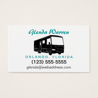 Class A Motorhome / Bus Silhouette Calling Card