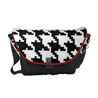 Class and smart hound's-tooth cloth! messenger bag