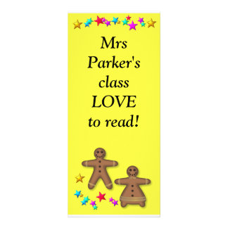 Class bookmark - Love reading Customized Rack Card