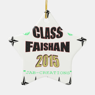 Class Faishan 2015 Image Ceramic Star Decoration
