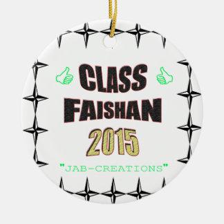Class Faishan 2015 Image Round Ceramic Decoration