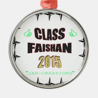 Class Faishan 2015 Image Silver-Colored Round Decoration