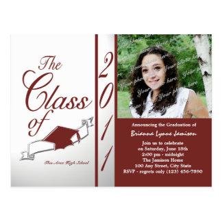 Class Graduation 2011/ Brick Red Postcard