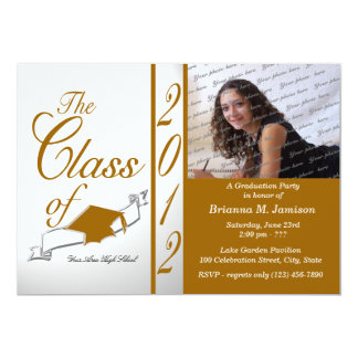 Class Graduation 2012 13 Cm X 18 Cm Invitation Card
