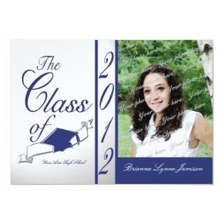 Class Graduation 2012/ Blue 13 Cm X 18 Cm Invitation Card