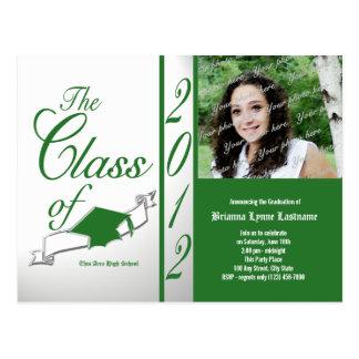 Class Graduation 2012 Green Postcard